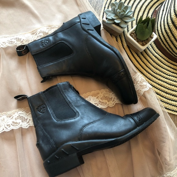 Ariat Other - Ariat Leather Equestrian Zip Up Boots Size 3